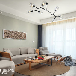 152㎡简约北欧客厅沙发设计图