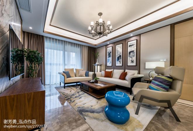 唯美新中式客厅设计图