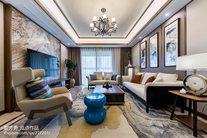 唯美新中式客厅设计图片