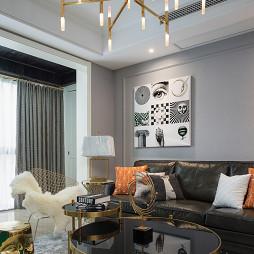 148㎡美式客厅吊灯设计图