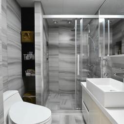 87方时尚简约卫浴设计图