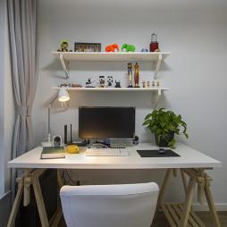 简单北欧风格书房书桌设计图