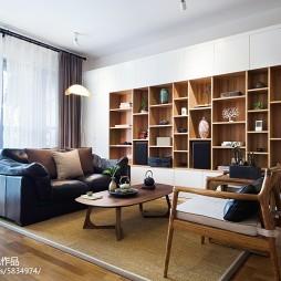 禅意新中式客厅博古架设计图片