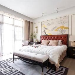 简单中式别墅卧室设计图片