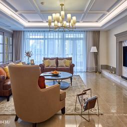 美式四居客厅设计效果图