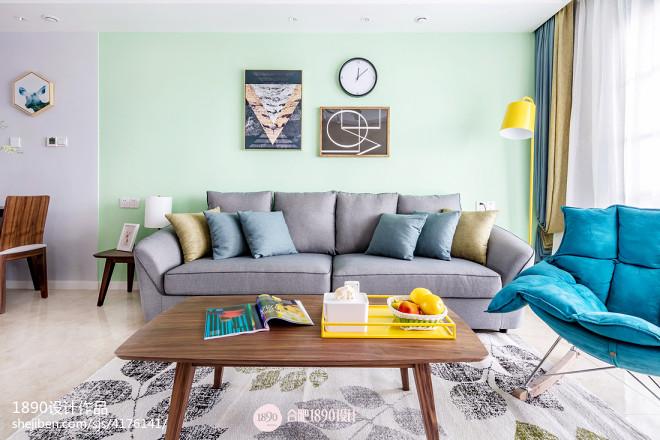 三居北欧风客厅沙发设计图片