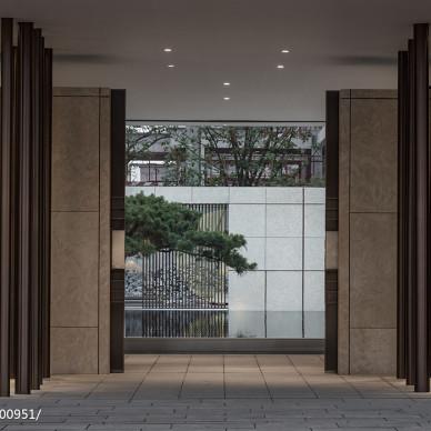 混搭风售楼中心入口设计图
