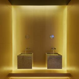 混搭风餐饮空间洗手池设计图