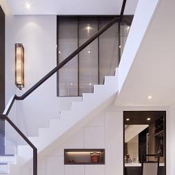 中式样板间实景楼梯设计图片