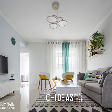 北欧三居客厅设计效果图