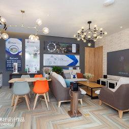 350㎡现代北欧风展厅客厅设计图