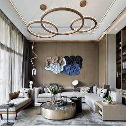 別墅樣板房客廳設計效果圖