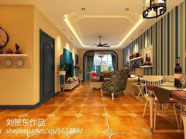 110平米三室两厅地中海装修风格案例