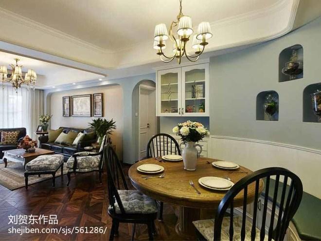 118平米欧美风格三居室装修_289