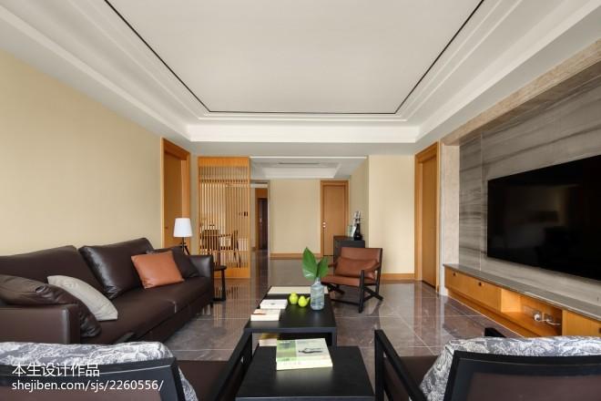 素雅现代三居客厅设计效果图