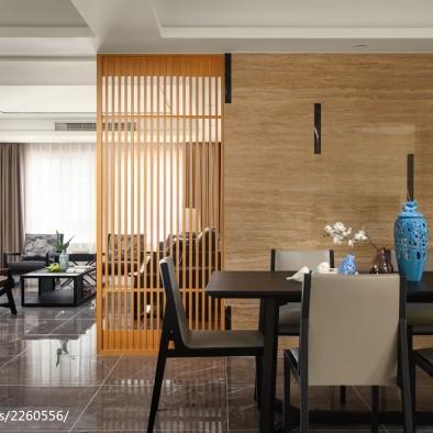 素雅现代三居餐厅设计图