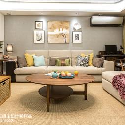 简单北欧二居客厅沙发背景设计图