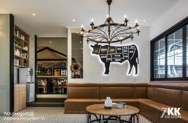 精装烤肉餐厅卡座设计图