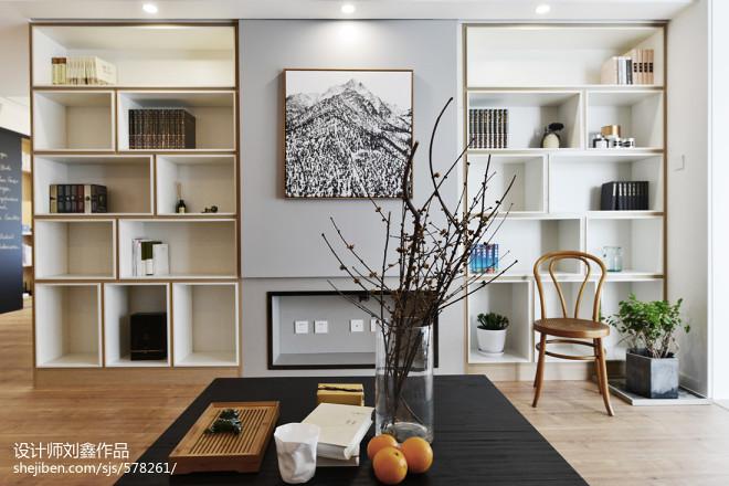现代三居客厅储物架设计图