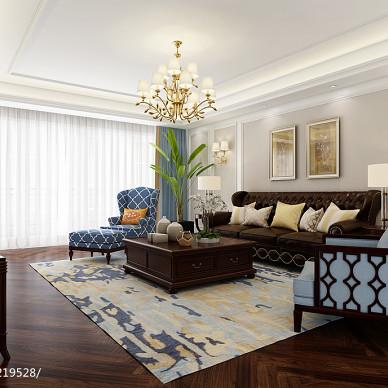 【蓝桥春雪】美式风格住宅空间设计_2910982