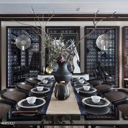 东南亚风格豪宅餐厅设计图