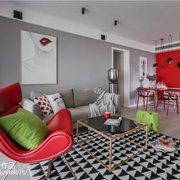 清新北欧二居客厅沙发设计图片