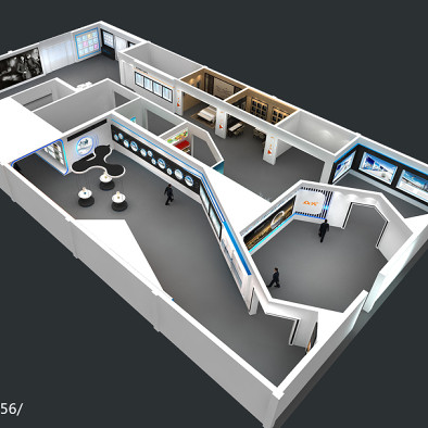 江西众光照明1000平科技展厅…