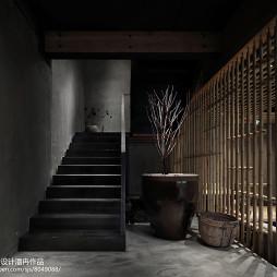 竹里馆中餐厅楼梯设计图