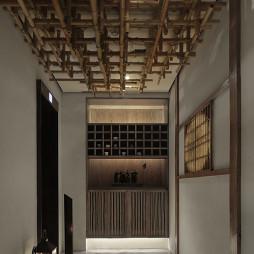 竹里馆中餐厅电梯厅设计图
