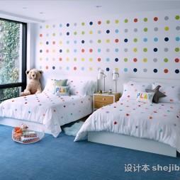 现代风格儿童房整体家居图