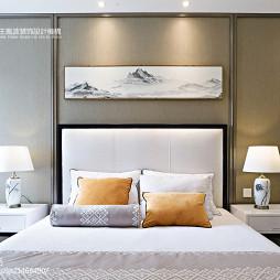 中式别墅卧室背景设计图