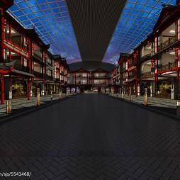 新中式的步行街_2935351