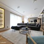 宽敞北欧三居客厅设计图片