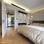 宽敞北欧三居卧室设计效果图片