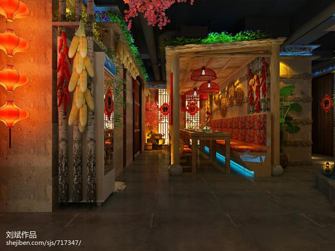 大连·福记餐厅设计效果图_29422