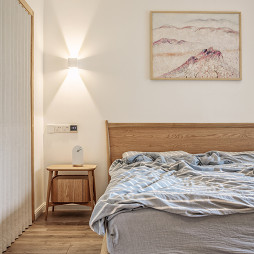 日式风格三居卧室床头灯设计图