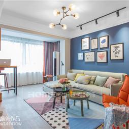 120平方北欧三居客厅设计效果图