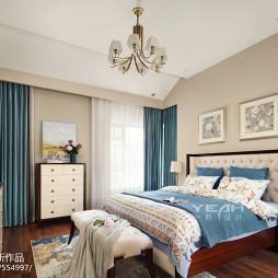 田园美式别墅卧室设计图