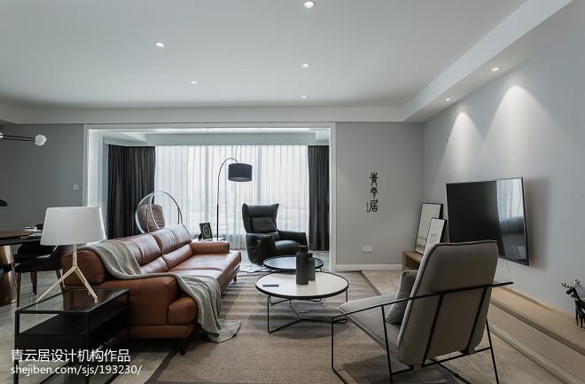 豪华现代四居客厅设计图