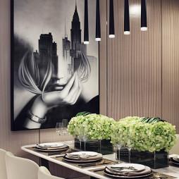 个性现代样板房餐厅吊灯设计图