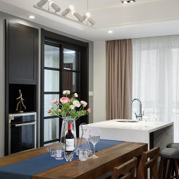 120㎡北欧公寓餐厅设计图