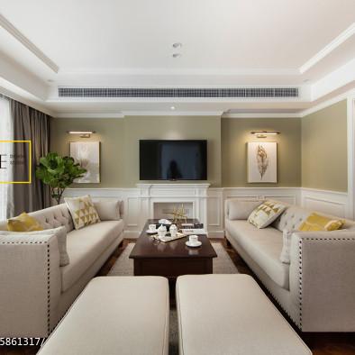 簡美式三居客廳設計效果圖