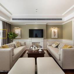 简美式三居客厅设计效果图