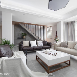 190m² 复式客厅设计效果图