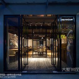 160㎡龙虾主题餐厅大门设计图