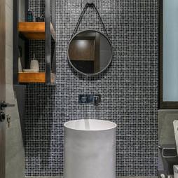 时尚现代三居卫浴洗手台设计图
