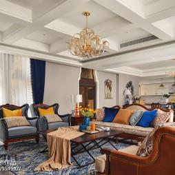 独特美式别墅客厅设计图