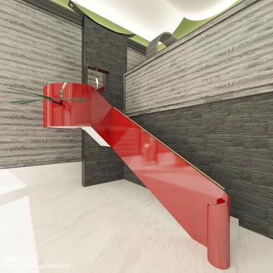 钢楼梯上落了一只竹蜻蜓_3003252