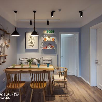 100㎡清爽北欧公寓·初夏的海风_3003941