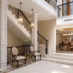 经典美式别墅休闲区设计图